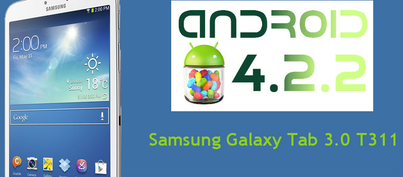 Android 4.2.2 Official Stock Firmware Update for Galaxy Tab 3 8.0