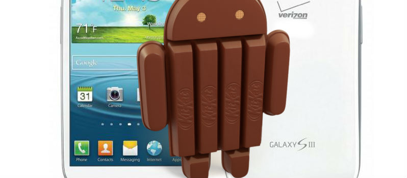 Verizon Galaxy S3 updated to Android 4.4 Using CM11