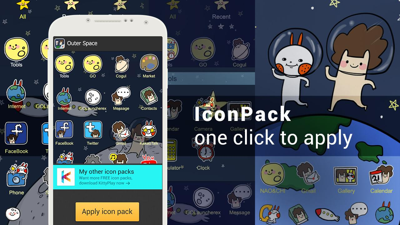 Outer space icon pack