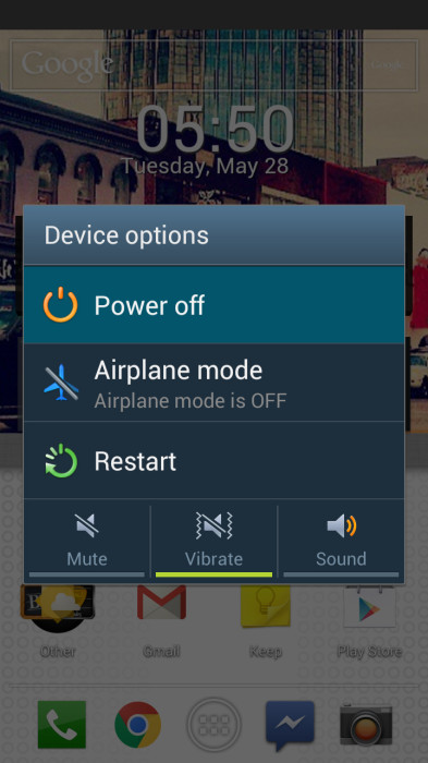 Android - Device Options