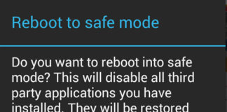 Android - Reboot to Safe Mode