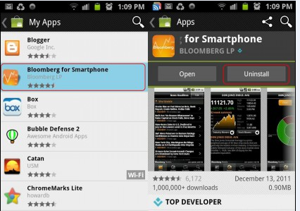 Uninstalling Apps from Android