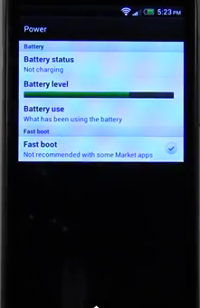 Fast boot option on HTC One X