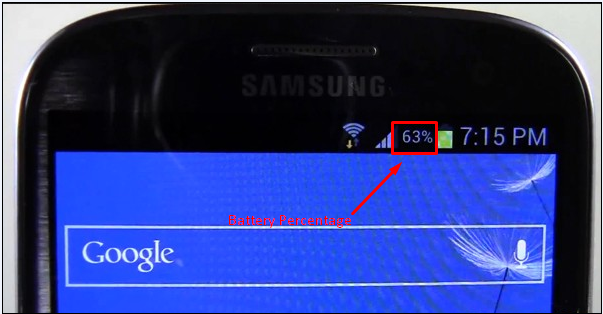 Battery Percentage Feature on Galaxy S3