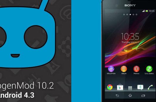 CyanogenMod 10.2 Custom ROM for Sony Xperia Z