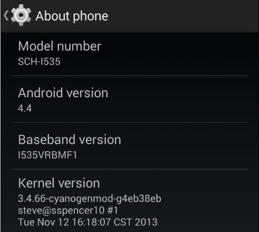 Android 4.4 KitKat Custom ROM for Verizon Galaxy S3