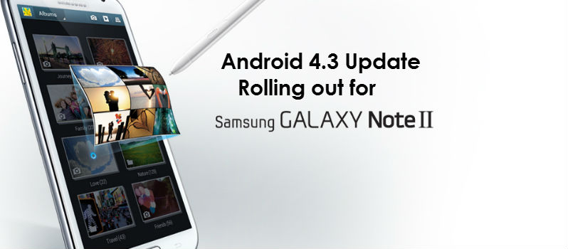 Android 4.3 Update for Galaxy Note 2