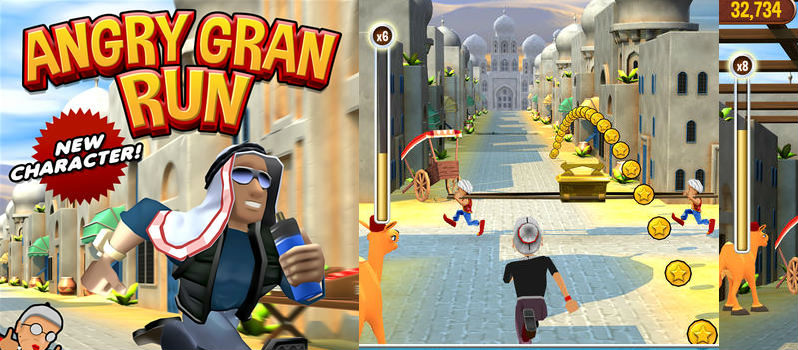 Angry Gran Run free Running Game for Android