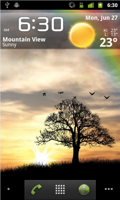 Sun Rise Free Android Live Wallpaper