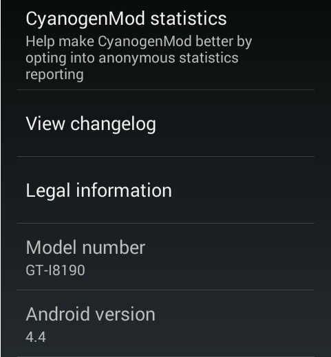 Android 4.4 KitKat for Galaxy S3 Mini