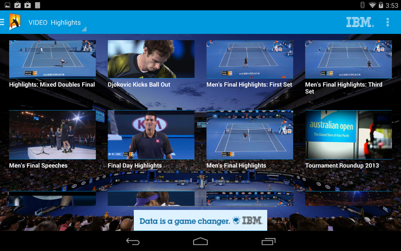 Australian Open 2014 Official App for Android