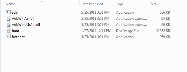 Fastboot-folder