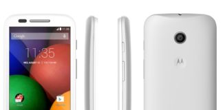Moto E white color
