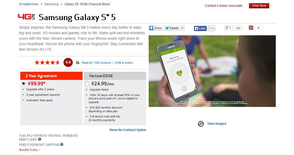 verizon-galaxy-s5-for-$99.99
